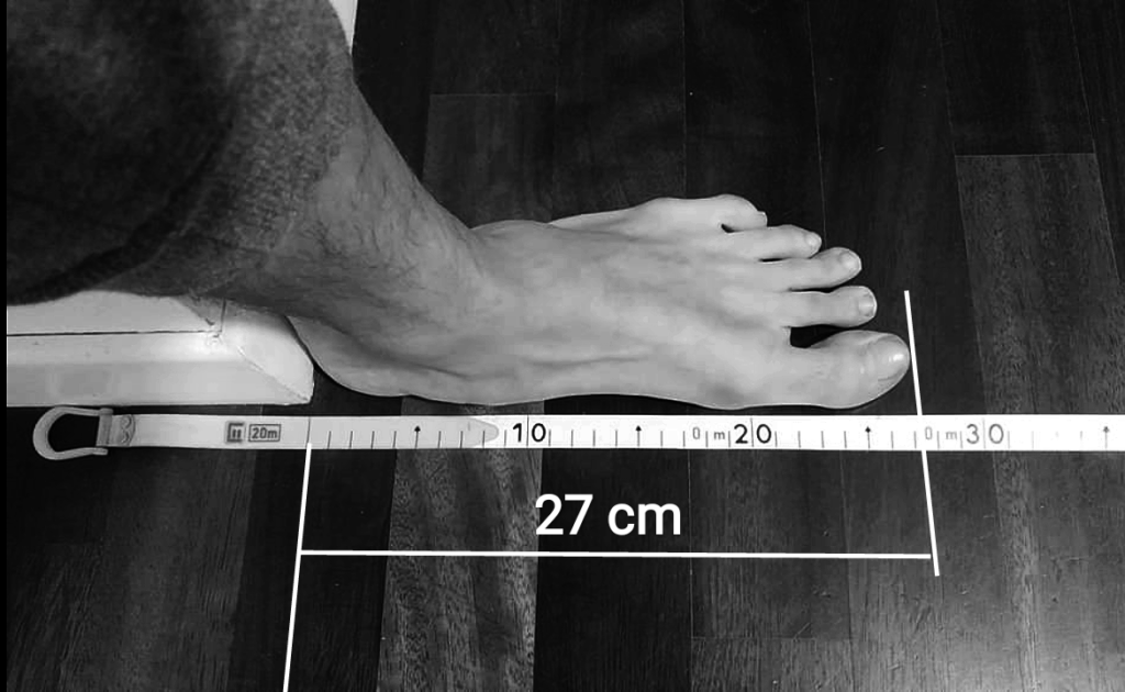 How to know my foot size